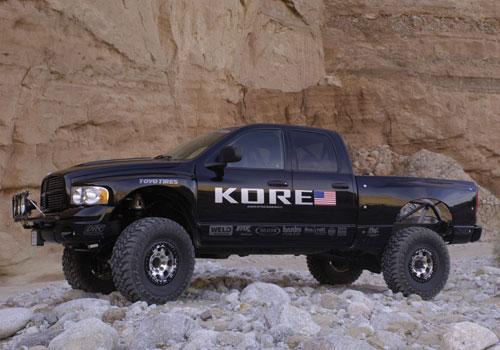 Race Truck On Rocks